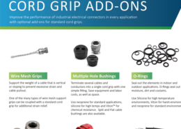 Add-Ons for standard cord grips to improve performance in harsh environments - GO.Remke.com