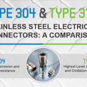 Easily Compare Type 304 & 316 Stainless Steel Electrical Connectors Infographic - Go.Remke.com