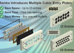 Remke introduces the new BRM cable entry plates.